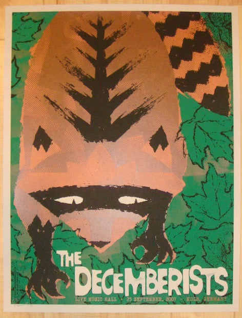 2007 The Decemberists - Koln II Silkscreen Concert Poster by Todd Slater