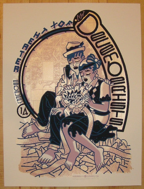 2011 The Decemberists - Oakland Concert Poster by Guy Burwell