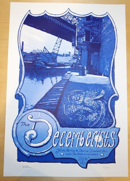 2011 The Decemberists - Cleveland Concert Poster by Welker