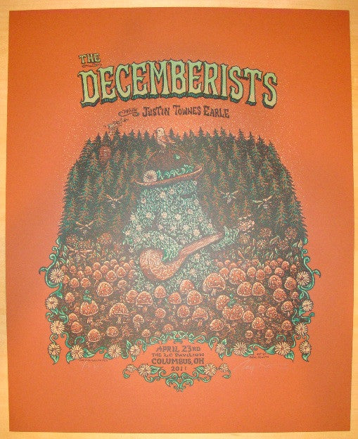 2011 The Decemberists - Variant Concert Poster by Marq Spusta