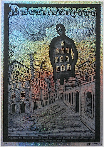 2011 The Decemberists - Sparkle Foil Variant Silkscreen Concert Poster by Emek