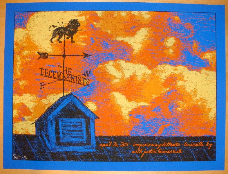 2011 The Decemberists - Louisville Variant Poster by Todd Slater