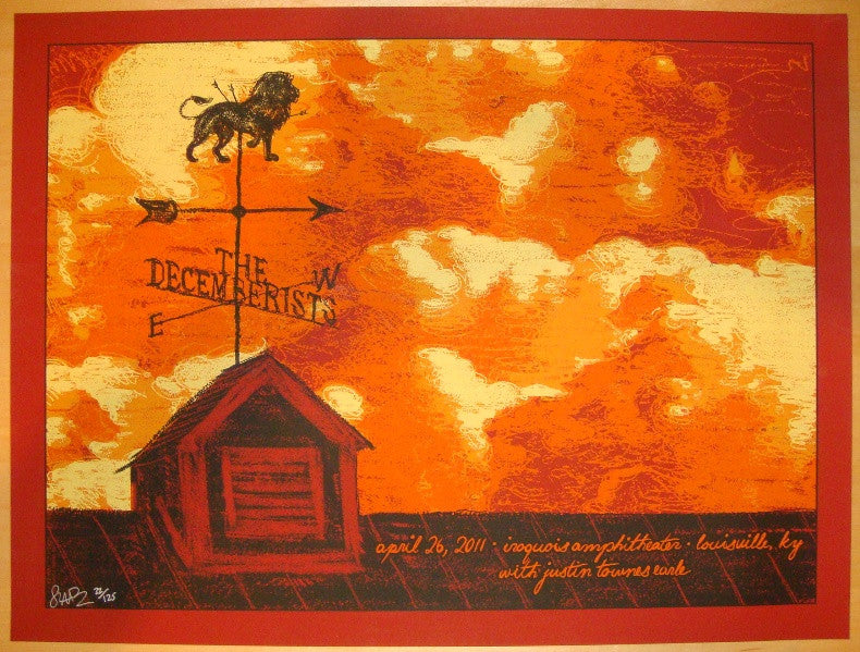2011 The Decemberists - Louisville Concert Poster by Todd Slater