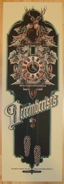 2011 The Decemberists - Nashville Concert Poster by Ken Taylor