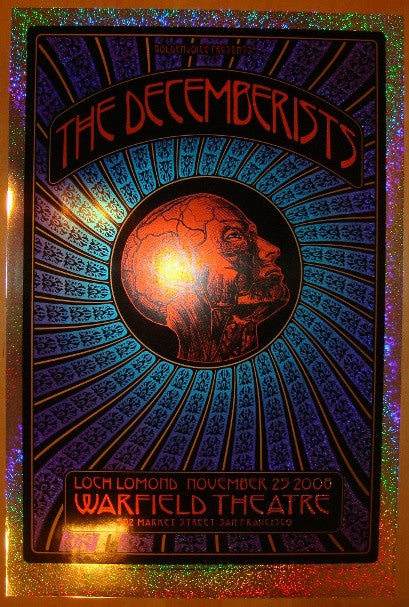 2008 The Decemberists - Foil Concert Poster - Hunter & Firehouse