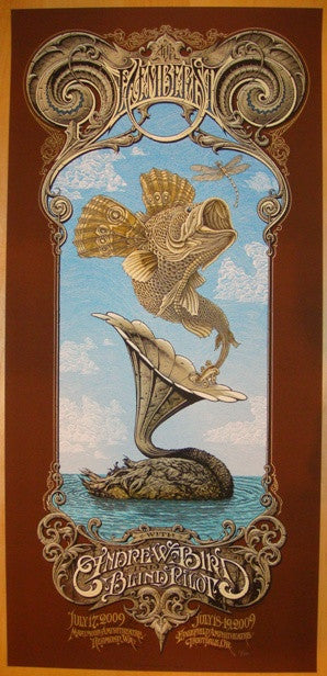 2009 The Decemberists Silkscreen Concert Poster by Horkey & Emek