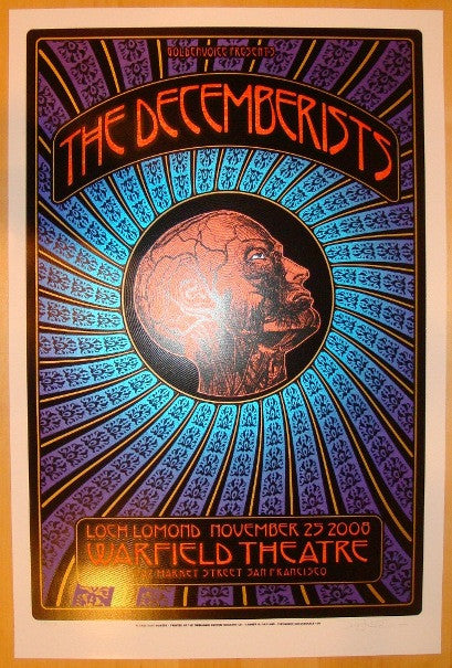 2008 The Decemberists - Concert Poster by Hunter & Firehouse