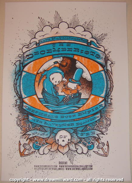 2007 The Decemberists Silkscreen Concert Poster by Drew Millward