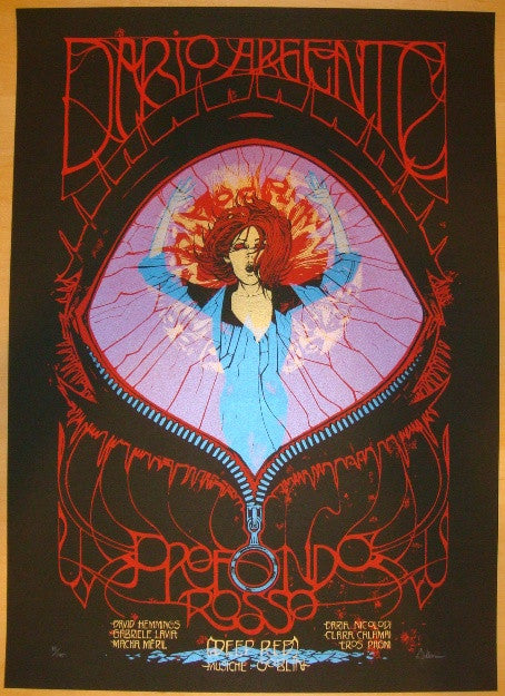 "2012 ""Deep Red"" - Silkscreen Movie Poster by Malleus"