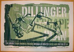 2004 Dillinger Escape Plan - Portland I Poster by Guy Burwell