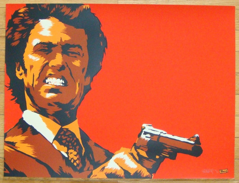 "2011 ""Dirty Harry"" - Silkscreen Art Print by Billy Perkins"