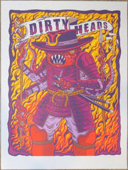 2019 Dirty Heads - Dallas Silkscreen Concert Poster by Jim Mazza