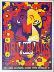 2019 Dirty Heads - Mt Pleasant Silkscreen Concert Poster by Dan Stiles