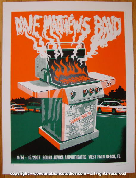 2007 Dave Matthews Band - West Palm Beach Concert Poster Methane