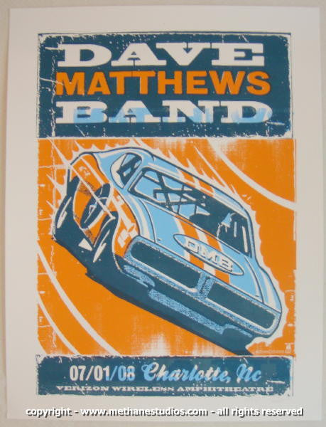 2008 Dave Matthews Band - Charlotte Concert Poster by Methane