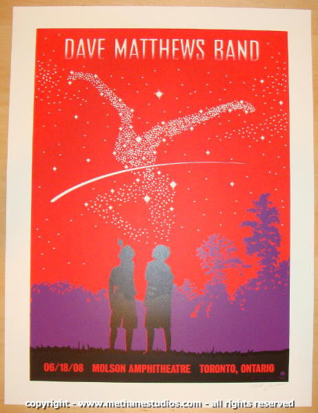 2008 Dave Matthews Band - Toronto Concert Poster by Methane