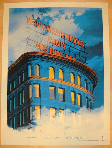 2012 Dave Matthews Band - Boston Concert Poster by Methane