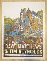 2017 Dave Matthews and Tim Reynolds - Berlin / Köln Silkscreen Concert Poster by Landland