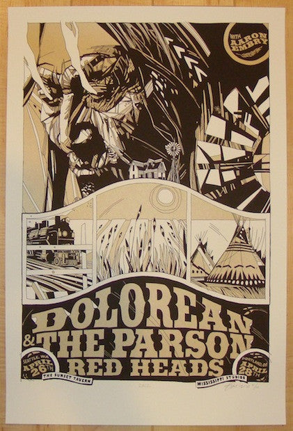 2012 Dolorean & Parson Red Heads - Concert Poster by Tyler Stout
