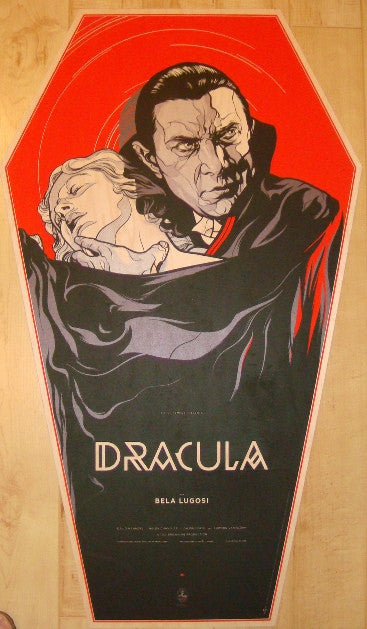 "2011 ""Dracula"" - Wood Coffin Movie Poster by Martin Ansin"