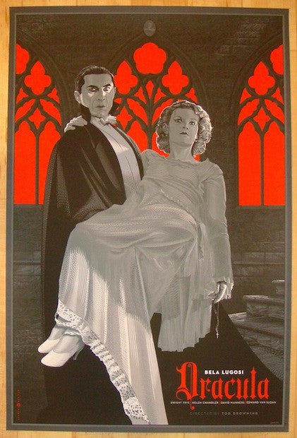 "2012 ""Dracula"" - Silkscreen Movie Poster by Laurent Durieux"