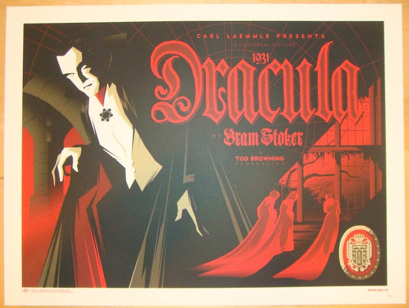 "2013 ""Dracula"" - Silkscreen Movie Poster by Tom Whalen"