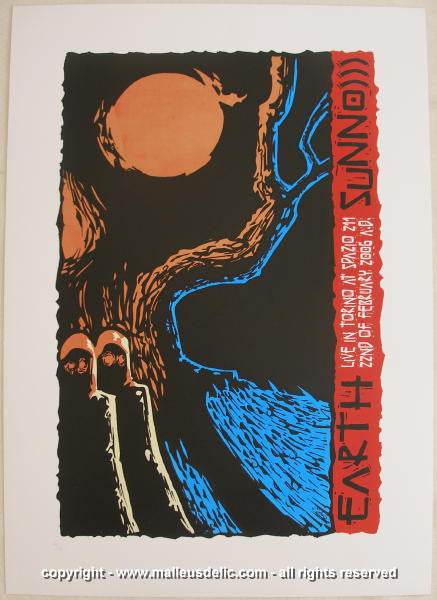 2006 Earth w/ Sunn0))) Silkscreen Concert Poster by Malleus