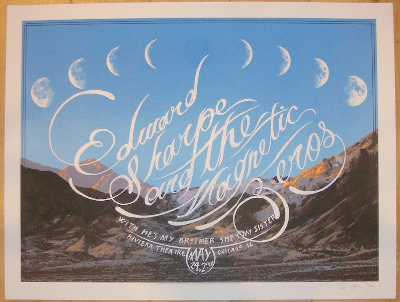 2012 Edward Sharpe - Chicago Concert Poster by Crosshair
