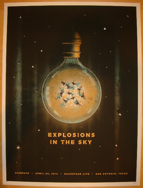 2012 Explosions In The Sky - San Antonio Concert Poster by DKNG