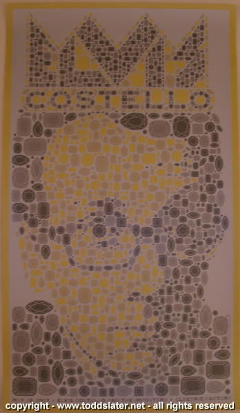 2007 Elvis Costello Silkscreen Concert Poster by Todd Slater