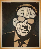 2009 Elvis Costello - Gold Variant Concert Poster by Todd Slater