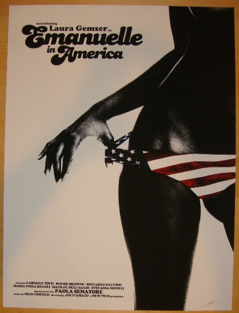 "2012 ""Emanuelle In America"" - Silkscreen Movie Poster by Shaw"