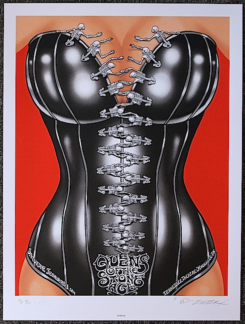 2014 Queens of the Stone Age - Knoxville Silkscreen Concert Poster by Emek