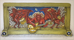 2012 Black Keys - Rockin Devil Yellow Guitar Silkscreen Handbill by Emek