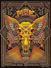 2018 Moe. - Red Rocks A/P Silkscreen Concert Poster by Emek