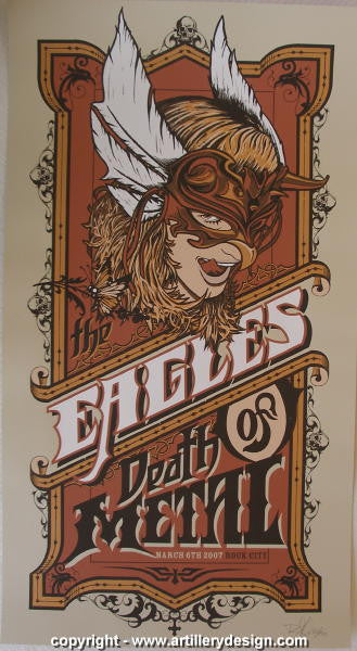 2007 Eagles of Death Metal Concert Poster by Brad Klausen