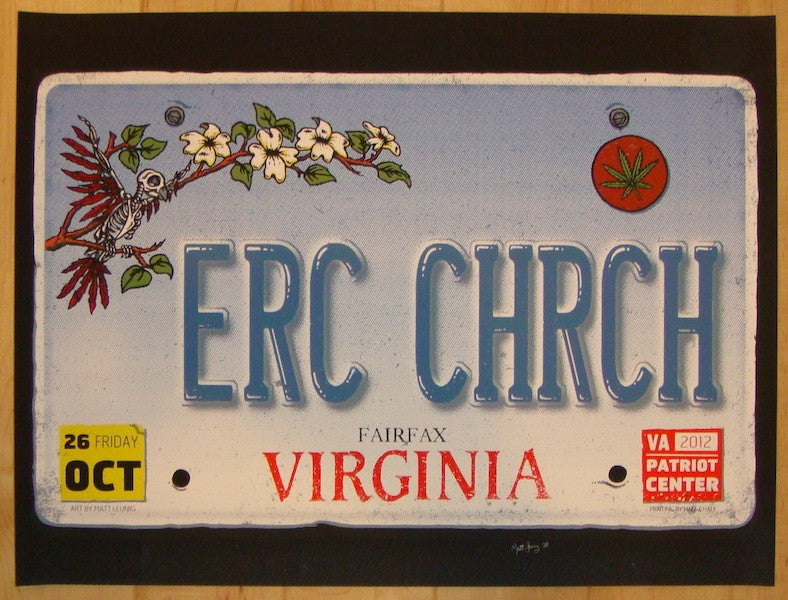 2012 Eric Church - Fairfax Concert Poster by Matt Leunig
