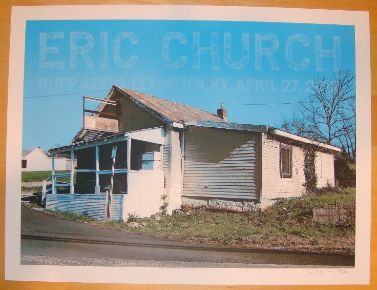 2012 Eric Church - Lexington Concert Poster by Crosshair