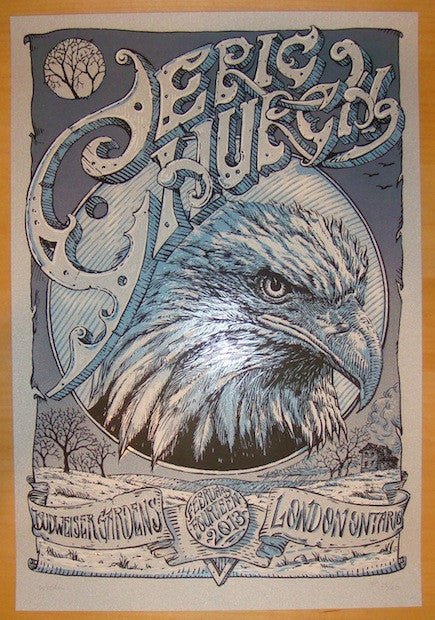 2013 Eric Church - London Silkscreen Concert Poster by David Welker