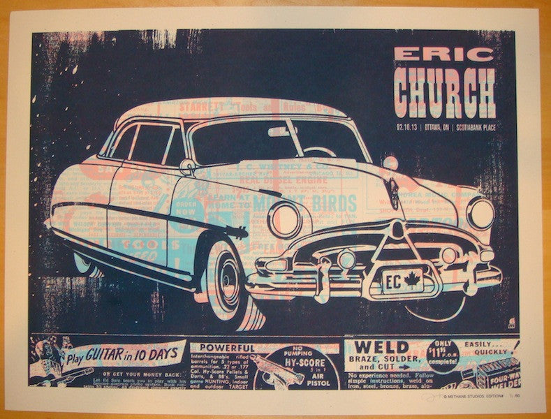 2013 Eric Church - Ottawa Concert Poster by Methane