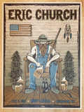 2015 Eric Church - Lexington Silkscreen Concert Poster by Matt Leunig