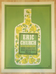 2017 Eric Church - Bangor Silkscreen Concert Poster by Methane