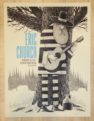 2017 Eric Church - Cleveland Silkscreen Concert Poster by Methane