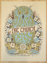 2017 Eric Church - Duluth Silkscreen Concert Poster by Methane