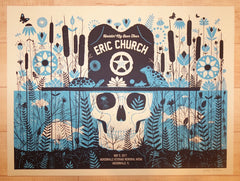 2017 Eric Church - Jacksonville Silkscreen Concert Poster by Methane