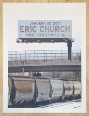 2017 Eric Church - Minneapolis Silkscreen Concert Poster by Crosshair