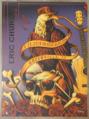 2019 Eric Church - Greenville I Silkscreen Concert Poster by Brandon Heart