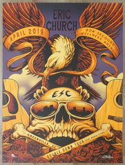 2019 Eric Church - Greenville II Silkscreen Concert Poster by Brandon Heart