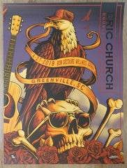2019 Eric Church - Greenville III Silkscreen Concert Poster by Brandon Heart