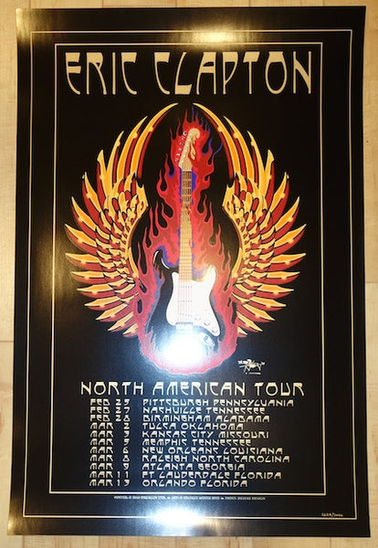 2010 eric clapton north american tour concert poster by stanley mous jojo 39 s posters. Black Bedroom Furniture Sets. Home Design Ideas
